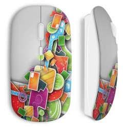 Souris sans fil 3D Design colors