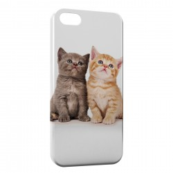Coque iPhone 7 Plus (+) 2 Chats Mignons