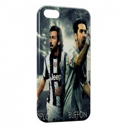 Coque iPhone 7 Plus (+) Andrea Pirlo & GIGI Buffon Juventus