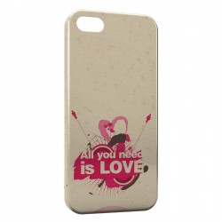 Coque iPhone SE All you need is LOVE Art