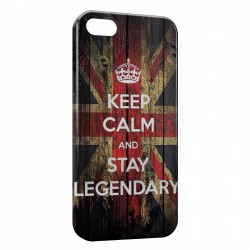 Coque iPhone SE Anglais Keep Calm and Stay Legendary