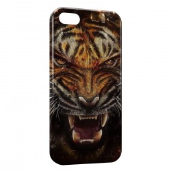 Coque iPhone SE Angry Tiger