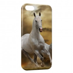 Coque iPhone 5 & 5S Cheval 6 White