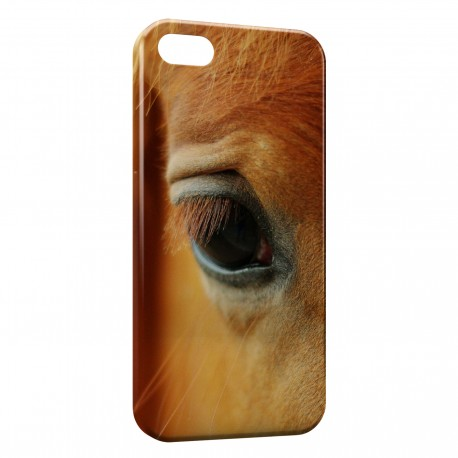 Coque iPhone 5 & 5S Cheval Oeil Eye 3