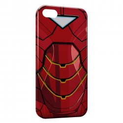Coque iPhone 5 & 5S Iron Man Avenger Style Red Armure