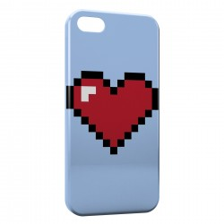 Coque iPhone 5 & 5S Pixel Heart Love