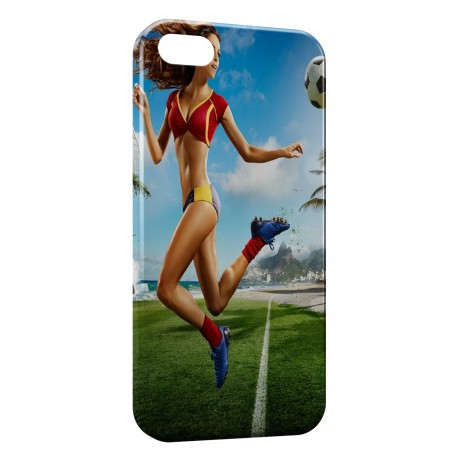 Coque iPhone 5 & 5S sexy girl football