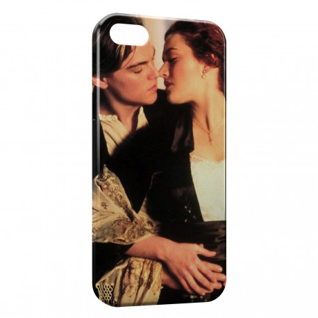 Coque iPhone 5 & 5S Titanic Leonardo Di Caprio Rose