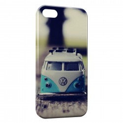 Coque iPhone 5 & 5S Volkswagon Van Blue Vintage
