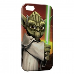Coque iPhone 5 & 5S Yoda Star Wars Anime Green