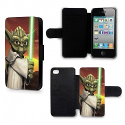 Etui Housse iPhone 6 Plus (+) Yoda Star Wars Anime Green