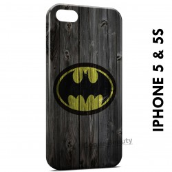 iPhone 5/5S Batman Logo Wood