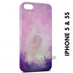 iPhone 5/5S Violet Feather Paint