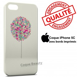 iPhone 5C Arbre multicolor paint