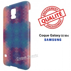 Galaxy S5 Mini 3D Blue & Orange Colors