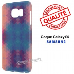 Coque Galaxy S6 3D Blue & Orange Colors