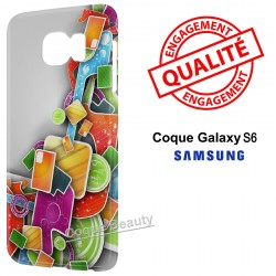 Coque Galaxy S6 3D Design colors
