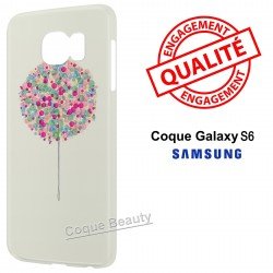 Coque Galaxy S6 Arbre multicolor paint