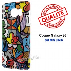 Coque Galaxy S6 Art Colors