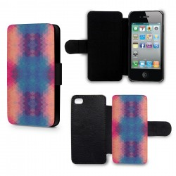 Etui Housse iPhone 4 & 4S 3D Blue & Orange Colors