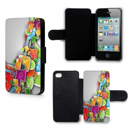 Etui Housse iPhone 4 & 4S 3D Design colors