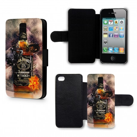 Etui Housse iPhone 4 & 4S Alcool Jack Daniels Art