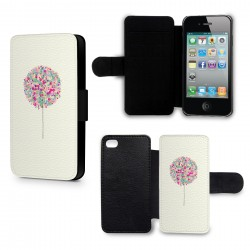 Etui Housse iPhone 4 & 4S Arbre multicolor paint
