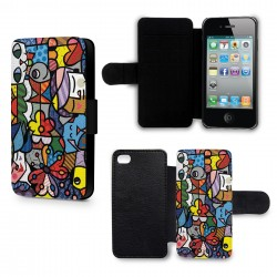 Etui Housse iPhone 5 & 5S Art Colors