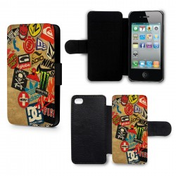 Etui Housse iPhone 5 & 5S Skateboard marques