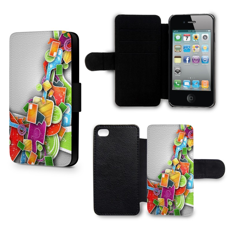 Etui housse iphone 5c 3d design colors coque spirit for Housse iphone 5c