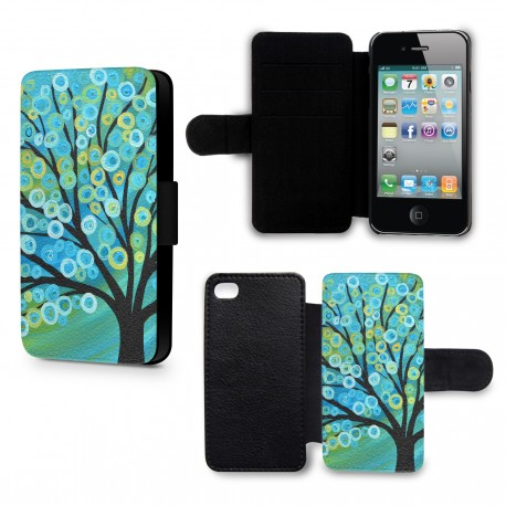 Etui Housse iPhone 6 Plus (+) Arbre Paint
