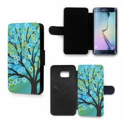 Etui Housse Galaxy S6 Edge Arbre Paint
