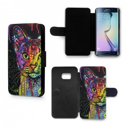 Etui Housse Galaxy S6 Chat Colorize