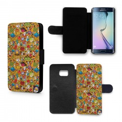 Etui Housse Galaxy S6 ClipArts Yellow