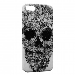 iPhone 5 & 5S Tete de mort flower Design